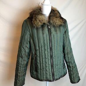 Michael Kors Real Fur Down Jacket Size Large